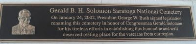 Gerald B.H. Solomon Saratoga National Cemetery Marker image. Click for full size.