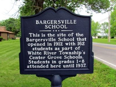 Bargersville School Marker image. Click for full size.
