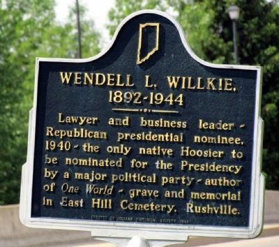 Wendell L. Willkie Marker image. Click for full size.