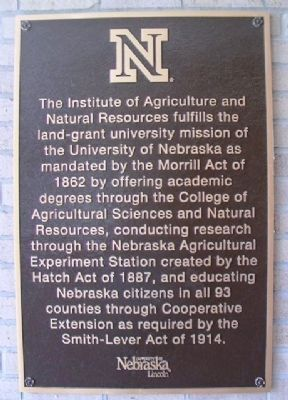 Institute of Agriculture and Natural Resources Marker image. Click for full size.