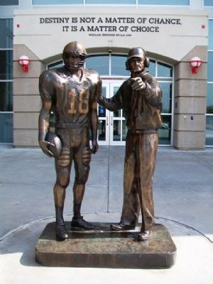 Tom Osborne Statue at Osborne Athletic Complex image. Click for full size.