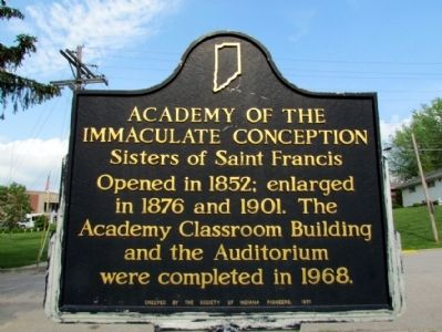 Academy of the Immaculate Conception Marker image. Click for full size.