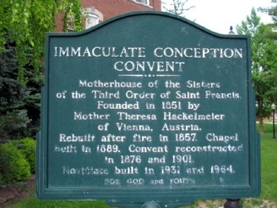 Immaculate Conception Convent Marker image. Click for full size.