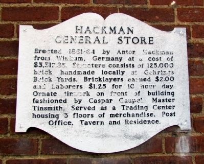 Hackman General Store Marker image. Click for full size.