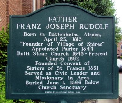Father Franz Joseph Rudolf Marker image. Click for full size.