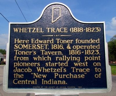 Whetzel Trace (1818-1823) Marker image. Click for full size.
