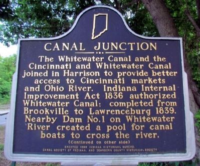 Canal Junction Marker (Front) image. Click for full size.