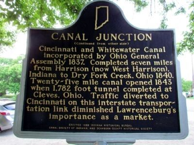 Canal Junction Marker (Back) image. Click for full size.