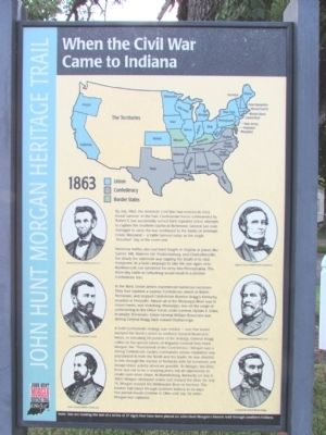 When the Civil War Came to Indiana Marker image. Click for full size.