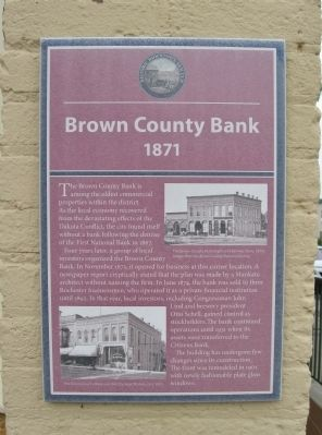 Brown County Bank Marker image. Click for full size.