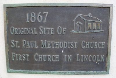 Original Site of St. Paul Methodist Church Marker image. Click for full size.