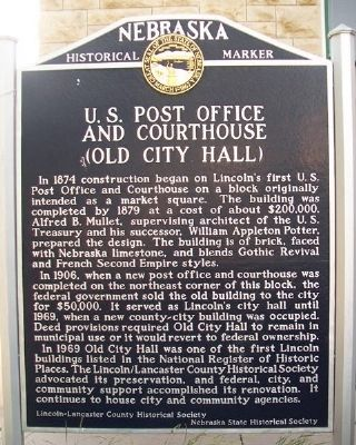 U.S. Post Office and Courthouse (Old City Hall) Marker image. Click for full size.