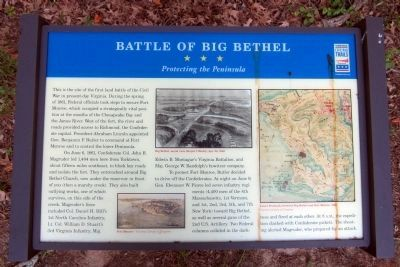 Battle of Big Bethel CWT Marker image. Click for full size.