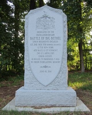 Battle of Big Bethel Union Monument image. Click for full size.