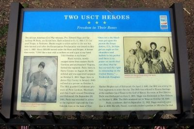 Two USCT Heroes CWT Marker image. Click for full size.