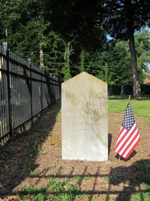 Pvt. Edward Diggs gravesite image. Click for full size.