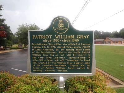 Patriot William Gray Marker image. Click for full size.
