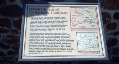 Martins Tavern and The Battle of Brandywine Marker image. Click for full size.