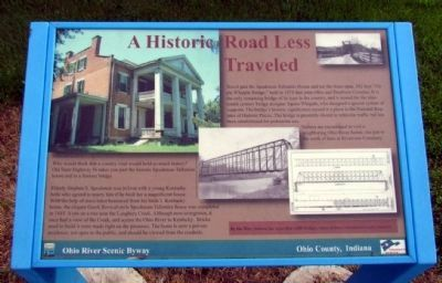 A Historic Road Less Traveled Marker image. Click for full size.