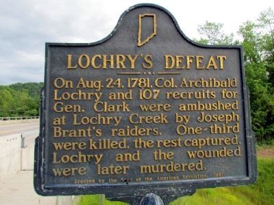 Lochry's Defeat Marker image. Click for full size.