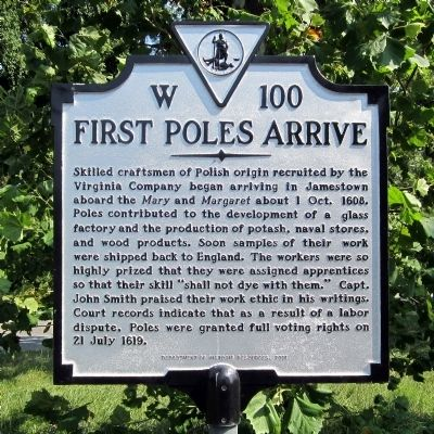 First Poles Arrive Marker image. Click for full size.