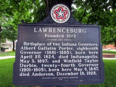 Lawrenceburg Marker image. Click for full size.