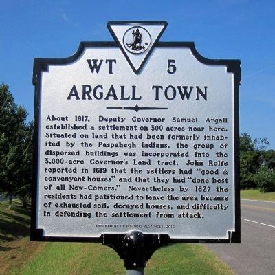 Argall Town Marker image. Click for full size.