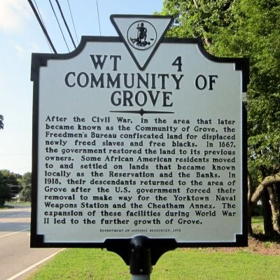 Community of Grove Marker image. Click for full size.