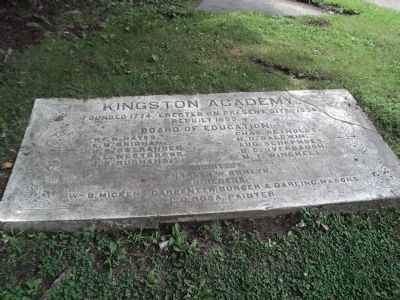 Kingston Academy Marker image. Click for full size.
