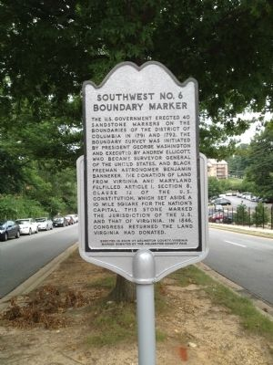 Southwest No. 6 Boundary Marker Marker image. Click for full size.
