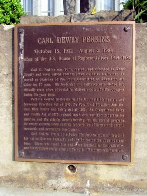 Carl Dewey Perkins Marker image. Click for full size.