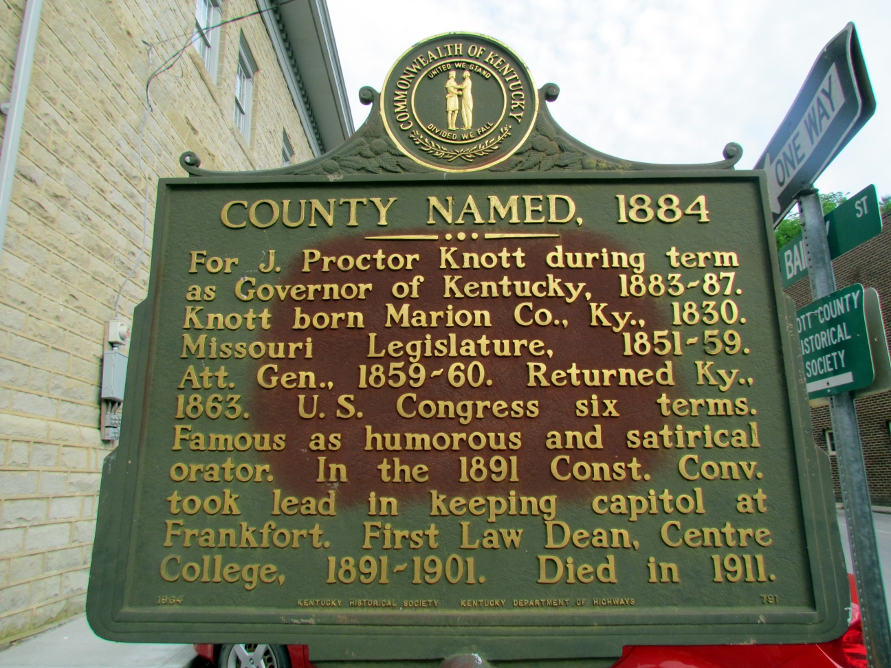 County Named, 1884 Marker
