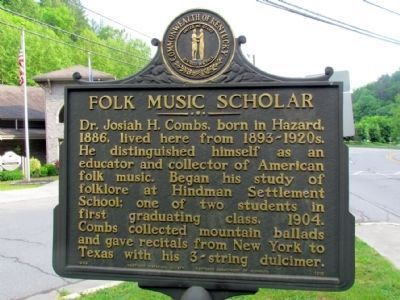 Folk Music Scholar Marker image. Click for full size.