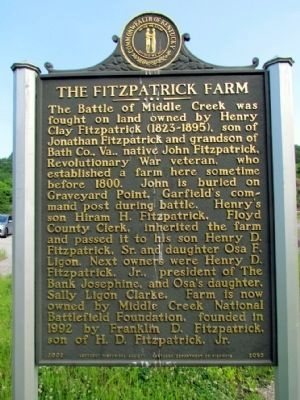 The Fitzpatrick Farm Marker image. Click for full size.