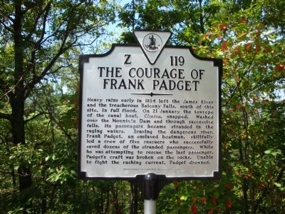 The Courage Of Frank Padget Marker image. Click for full size.