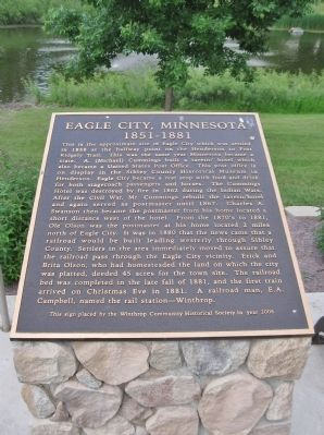 Eagle City, Minnesota Marker image. Click for full size.