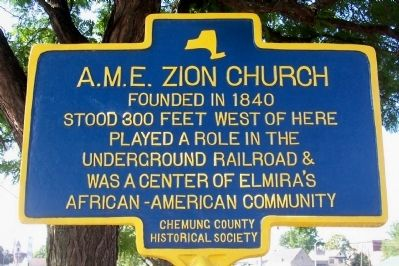 A.M.E. Zion Church Marker image. Click for full size.