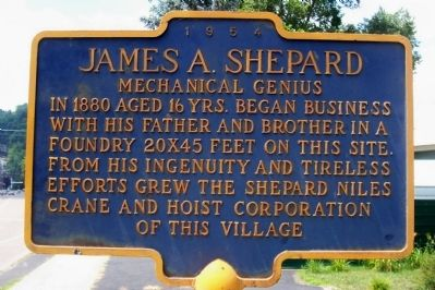 James A. Shepard Marker image. Click for full size.