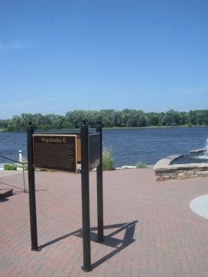 Wapahasha marker along the Mississippi River image. Click for full size.