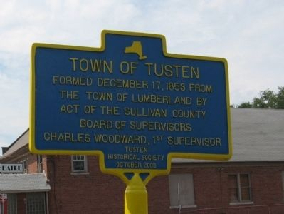 Town of Tusten Marker image. Click for full size.