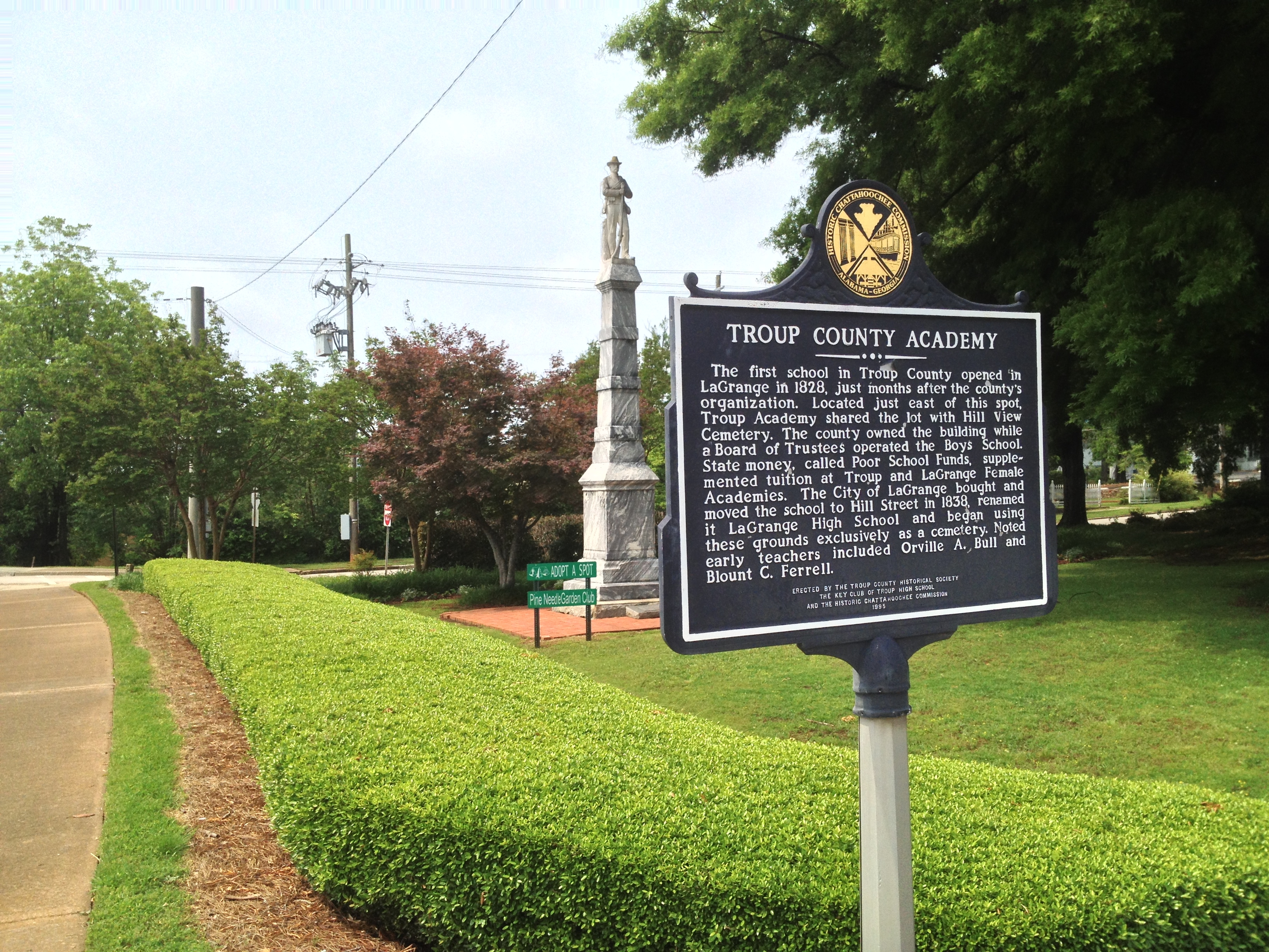 Troup County Academy Marker