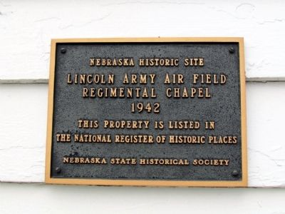 Lincoln Army Air Field Regimental Chapel Marker image. Click for full size.