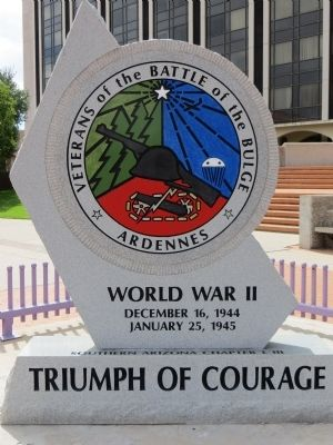 Veterans of the Battle of the Bulge Marker image. Click for full size.