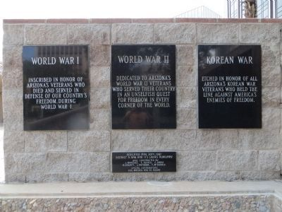 <i>Plaques on left side of:</i> Vietnam War Memorial image. Click for full size.