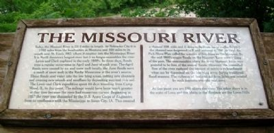 The Missouri River Marker image. Click for full size.