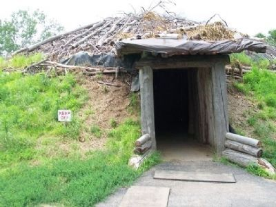 Entrance to Earth Lodge Replica image. Click for full size.