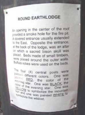 Earth Lodge Information Sheet image. Click for full size.