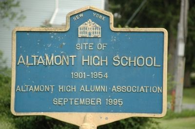 Altamont High School Marker image. Click for full size.