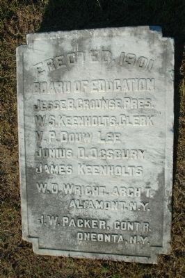 Altamont High School Builder's Stone image. Click for full size.