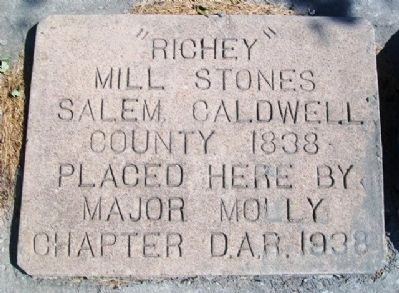 """Richey"" Mill Stones Marker image. Click for full size."